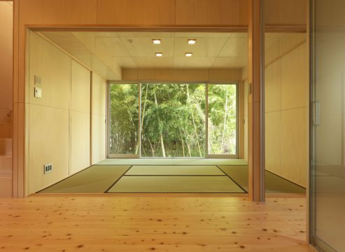 竹林のある家